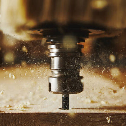 Cnc milling machine, woodwork industry. Tool with computer numerical control. woodwork industry.